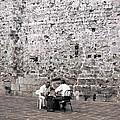 Backgammon At The Ancient Wall by Lorraine Devon Wilke