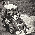 Backhoe Bw by Rudy Umans