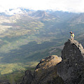 Backpackers Hike In Chugach State Park by HagePhoto