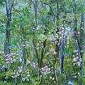 Backyard Mountain Laurel by Judith Rhue