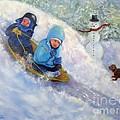 Backyard Winter Olympics by Loretta Luglio