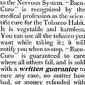 Baco-curo Ad, 1893 by Granger