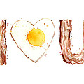 Bacon And Egg Love by Olga Shvartsur