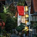 Bad Hindelang Austria At Dusk by Ginger Wakem
