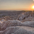 Badlands Overlook Sunset by Adam Romanowicz