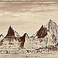 Badlands Plate 1 by Frank Burhenn