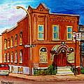 Bagg And Clark Street Synagogue by Carole Spandau