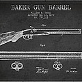 Baker Gun Barrel Patent Drawing From 1877- Dark by Aged Pixel