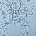 Balancing Clown - Doodle by James Lavott