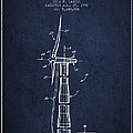 Balancing Of Wind Turbines Patent From 1992 - Navy Blue by Aged Pixel