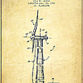 Balancing Of Wind Turbines Patent From 1992 - Vintage by Aged Pixel