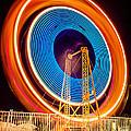 Balboa Fun Zone Ferris Wheel At Night Picture by Paul Velgos