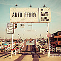 Balboa Island Ferry Newport Beach Vintage Picture by Paul Velgos