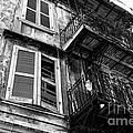Balcony And Windows Mono by John Rizzuto