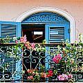 Balcony Blue By Diana Sainz by Diana Raquel Sainz