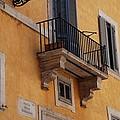 Balcony Piazza Della Madallena In Roma by Dany Lison