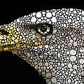 Bald Eagle Art - Eagle Eye - Stone Rock'd Art by Sharon Cummings