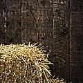 Bale Of Straw And Wooden Background by Dutourdumonde Photography