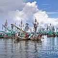 Balinese Fishing Boats by Louise Heusinkveld