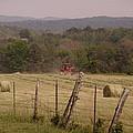 Baling Hay by Vicki Parker