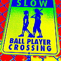 Ball Player Crossing by Ed Weidman