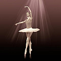 Ballerina On Pointe In Russet Tint  by Delores Knowles