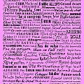 Ballet Terms Black On Pink  by Andee Design