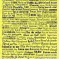 Ballet Terms Black On Yellow by Andee Design