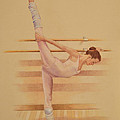 Balllet Dancer In Extension by Phyllis Tarlow