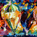 Balloon Parade - Palette Knife Oil Painting On Canvas By Leonid Afremov by Leonid Afremov