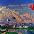 Ballooning On The Rio Grande by Art James West