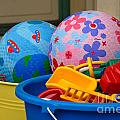 Balls And Toys In Buckets by Amy Cicconi