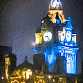 Balmoral Clock Tower On Princes Street In Edinburgh by Mark E Tisdale