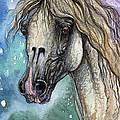 Balon Polish Arabian Horse Portrait 4 by Angel Ciesniarska