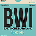 Baltimore Airport Poster 1 by Naxart Studio