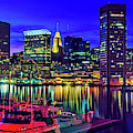 Baltimore Harbor By Night, Baltimore by Panoramic Images