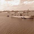 Baltimore Harbor In Sepia by Gordon Cain
