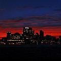 Baltimore Harbor Sunset by Doug Edmunds
