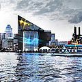 Baltimore - Harborplace - Inner Harbor At Night  by Donna Haggerty