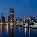 Baltimore Inner Harbor Skyline Reflections by Susan Candelario