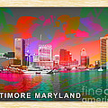 Baltimore Maryland Skyline by Marvin Blaine