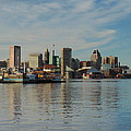 Baltimore Skyline Across The Harbor by Cityscape Photography