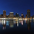 Baltimore Skyline At Dusk On The Inner Harbor by Cityscape Photography