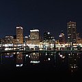 Baltimore Skyline At Night by Cityscape Photography
