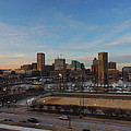 Baltimore Skyline At Sunset From Federal Hill by Cityscape Photography