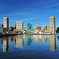 Baltimore Skyline From The Innner Harbor by Cityscape Photography