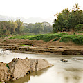 Bamboo Bridge At The Tip Of The Luang by Matthew Wakem