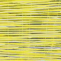 Bamboo Fence - Yellow And Gray by Saya Studios