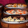 Bamboo Steamers With Dim Sum Dishes by Yali Shi