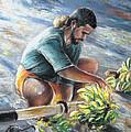Banana Carryer In Tahiti 02 by Miki De Goodaboom